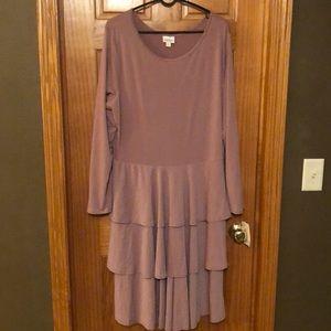 Lularoe Georgia Dress- Dusty Rose